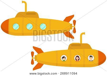 Yellow Submarine Two Cartoon Yellow
