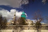 an architectural detail of a mosque in Konya,Turkey poster