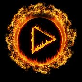 Burning Play Button