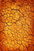stock photo of ozone layer  - A background image of dried and cracked soil - JPG
