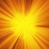 Background With Abstract Explosion Or Hyperspeed Warp Sun God Rays. Bright Orange Yellow Light Strip poster