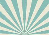 Sunlight Wide Retro Faded Background. Pale Green And Beige Color Burst Background. poster