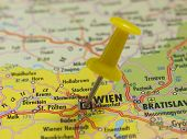 pin in the map, wien austria