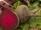 organic, colorful beetroot