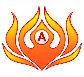Fire Flame Logo. Creative Vector Logo Design With Hot Fire Flames And Business Card Template poster
