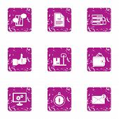 Excellent Solution Icons Set. Grunge Set Of 9 Excellent Solution Vector Icons For Web Isolated On Wh poster