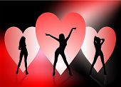 Three Sexy Valentine Girls