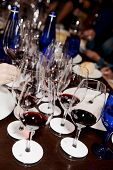 Professional winetasting contest, vertical