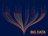 Big Data Analytics Methods And Visualization Concept Vector Design. 0 And 1 Binary Information Data  poster