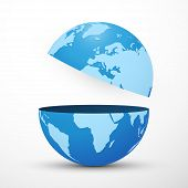 Divided Planet Earth Globe New Modern Style poster