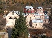 The Patriarchate Of Pec Monastery. Serbian Orthodox Monastery From 13th Century Located In Kosovo. U poster