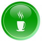 Green tea icon  (web button)