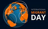 Global Migrant Day Concept Banner. Cartoon Illustration Of Global Migrant Day Concept Banner For Web poster