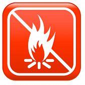 No camp-fire, sign :