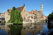 Most common view of medieval Bruges