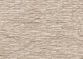 White Sepia Tan Brown Rock Stone Brick Tile Wall Aged Texture Pattern Background poster