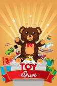 A Vector Illustration Of Toy Drive Brochure poster