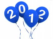 2012 Ballons In Blue