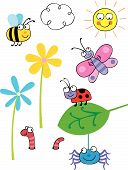 Collectie van Cartoon Vector Bugs