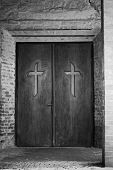 Religion Concept - Cross On Door