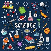 Chemistry Vector Chemical Science Or Pharmacy Research In School Laboratory For Technology Or Experi poster