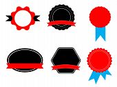 Labels Stickers And Tags On White Background. Stickers Sign. Flat Style. Ribbon Bannersfor Your Web  poster