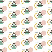 Abstract Modern Seamless Pattern Background Decorative With Geometric Shape. Can Be Used For Poster; poster