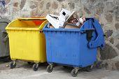 Color Coded Trash Bins
