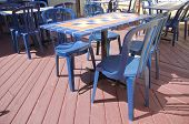 Blue Tiled Tables