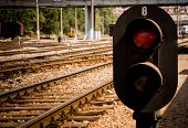 stock photo of railroad-sign  - Trains - JPG