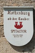Plate Showing The Spitaltor In Rothenburg