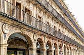 surrounding buildings at the Plaza Mayor, Salamanca, Spain