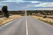 endless highway in Castilla-Leon, Spain