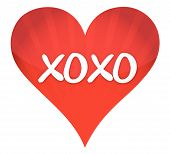foto of xoxo  - xoxo heart illustration design over a white background - JPG
