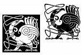 Angry Bird In Celtic Style