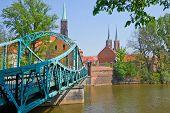 bridge to island Tumski, Wroclaw, Poland
