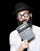 Financial And Accounting Genius With Calculator