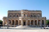 The baroque city hall of Noto