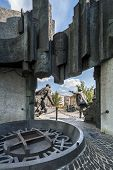 Back Of The Warsaw Uprising Monument In Warsaw