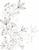 Vector Grasses Design Elements, floral Ornament