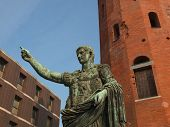 pic of turin  - Caesar Augustus monument at Palatine towers in Turin - JPG