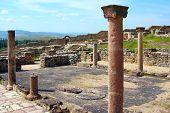 Pillars Of Late Roman Bassilica In Bargala Near Shtip