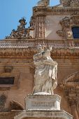 The baroque St. Peter church of Modica
