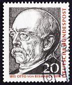 Postage stamp Germany 1965 Otto von Bismarck, Prussian Statesman