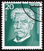 Postage stamp GDR 1975 Albert Schweitzer, Medical Missionary
