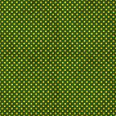 Seamless Green & Gold Polka Dot