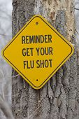 Reminder Get Your Flu Shot Sign