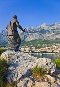 Statue Of St. Peter In Makarska, Croatia