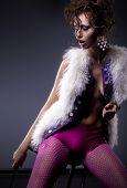 Fashion Lovely Sexy Girl Posing - Studio Shot