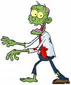 Cartoon Green Zombie